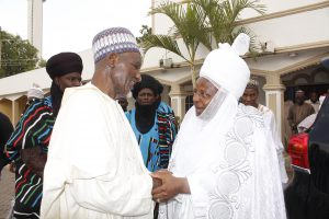 Chancellor of ADSU Mubi Paid Courtesy Visit to Emir of Mubi